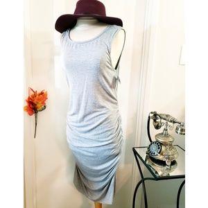 TART gray ruched shirt dress NWT